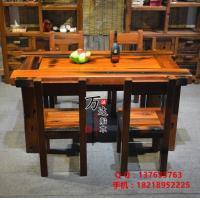 老船木餐桌实木餐桌椅组合船木餐台整装家具