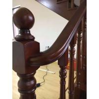 泰国橡胶木实木楼梯 流畅的起步弯 老师傅的手艺 就是赞