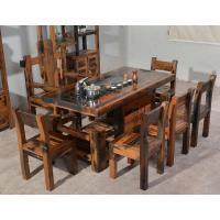 老船木将军茶台现代中式茶桌椅子仿古家具简约茶几茶海